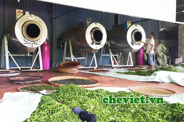 Xưởng sản xuất của Minh Cường Green tea
