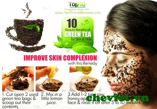 Tác dụng của trà xanh với làn da