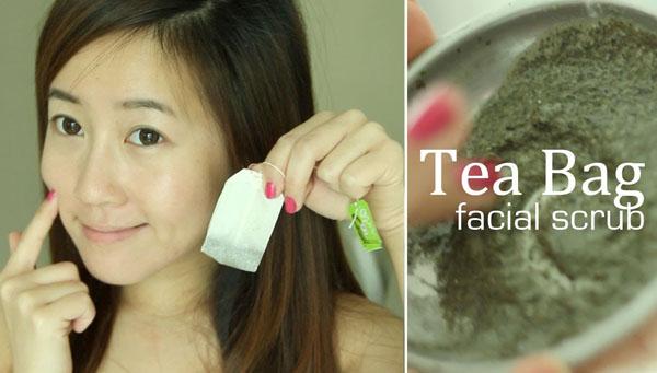 Làm đẹp da bằng trà