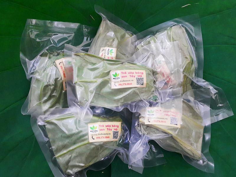 Sản phẩm trà ướp bông sen cao cấp của Trà sen Minh Cường