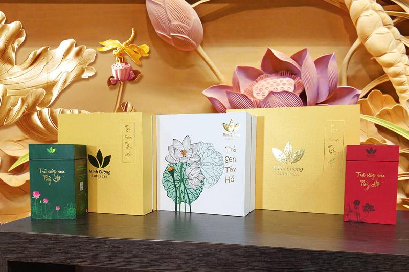 Các sản phẩm trà sen Minh Cường – quà Tết độc nhất